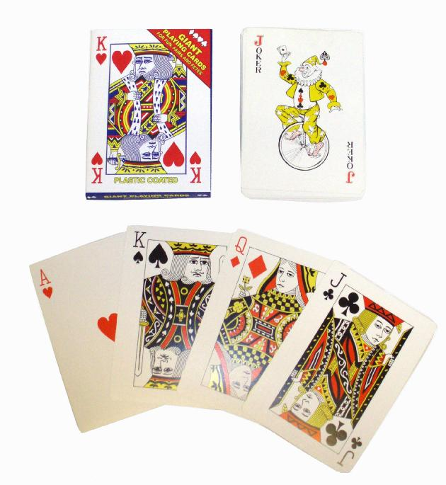 Giant Plastic Coated Playing Cards