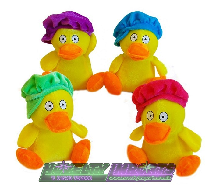 "duck in hats 7"" soft plush toy"
