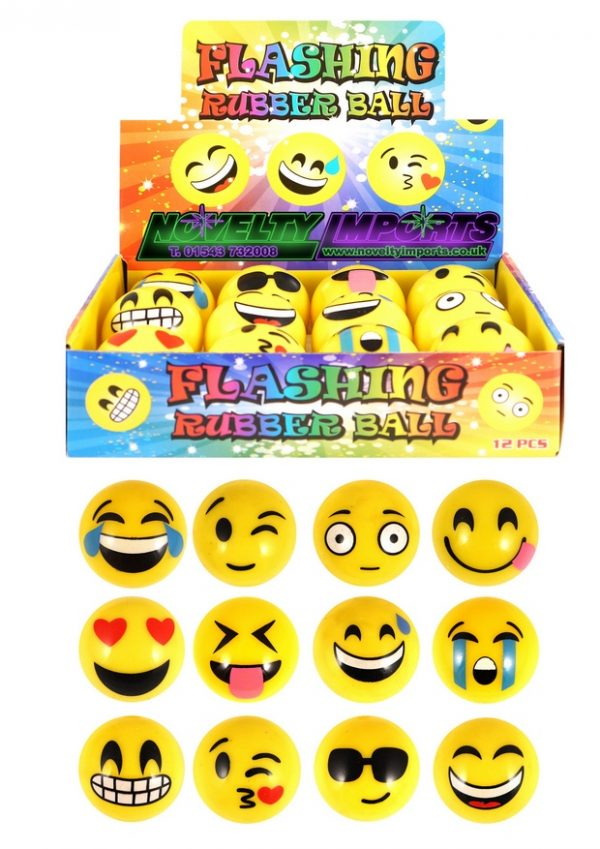 Emoji smile flashing ball