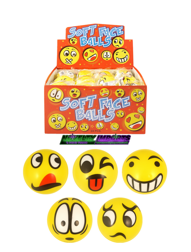 Smile face soft sponge ball